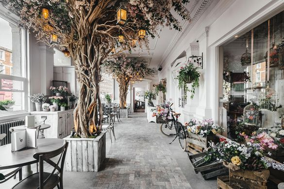 interior of the florist restaurant in liverpool